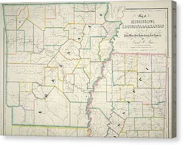 The American Atlas Canvas Print by British Library