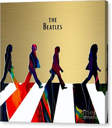 The Beatles Gold Series Canvas Print by Marvin Blaine