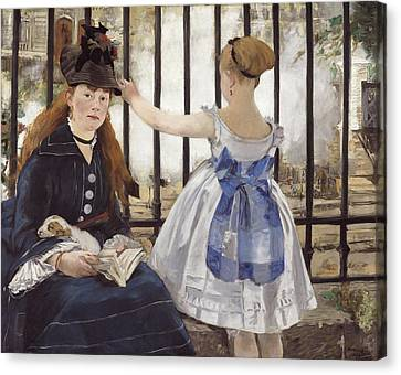 The Railway Canvas Print by Edouard Manet
