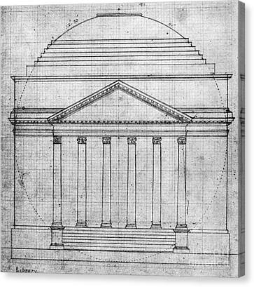 University Of Virginia Canvas Print by Granger