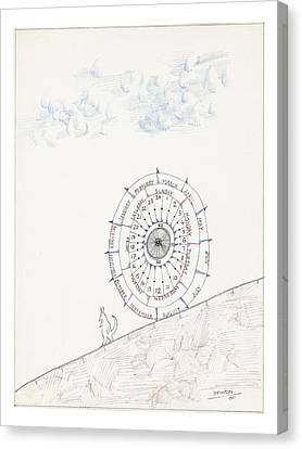 Untitled Canvas Print by Saul Steinberg