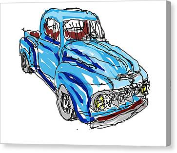 51 Ford Truck Canvas Print by Paulo  PtBarreto