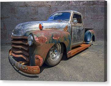 52 Chevy Truck Canvas Print by Debra and Dave Vanderlaan