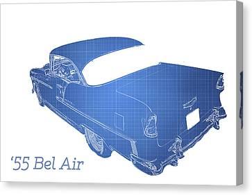 '55 Bel Air Canvas Print by Aaron Berg