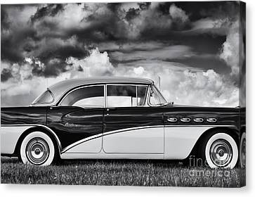 56 Buick Two Tone Canvas Print by Tim Gainey