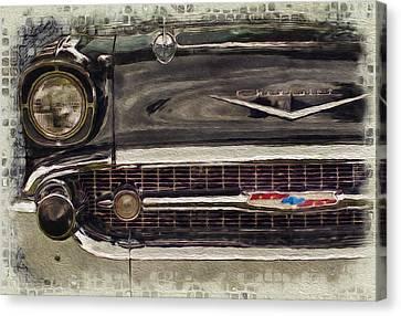 '57 Chevy Belair  Canvas Print by Jack Zulli