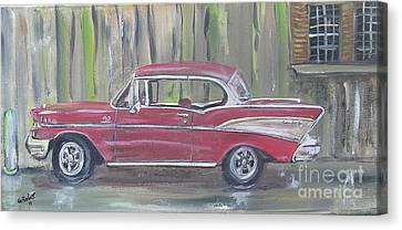 '57 Chevy Canvas Print by Gerald Rader