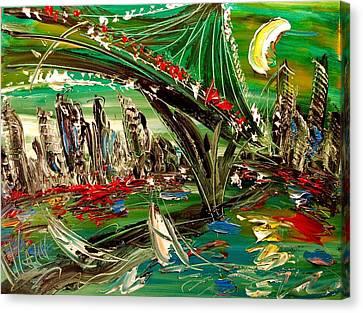 City Canvas Print by Mark Kazav