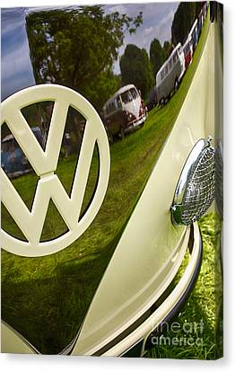 57 Vw Reflections Hdr Canvas Print by Tim Gainey