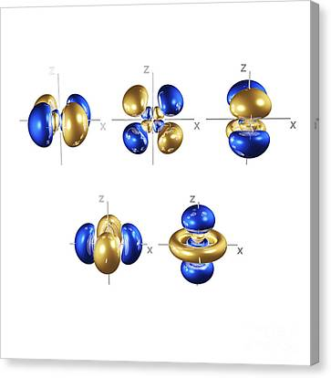 4d Electron Orbitals Canvas Print by Dr. Mark J. Winter