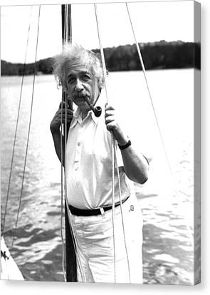 Albert Einstein Canvas Print by Retro Images Archive