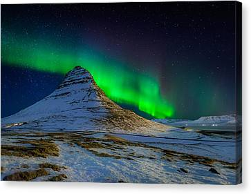 Aurora Borealis Or Northern Lights Canvas Print by Panoramic Images
