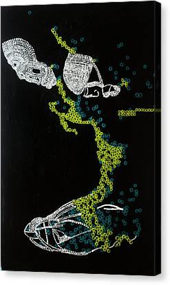 Dinka Silhouette - South Sudan Canvas Print by Gloria Ssali