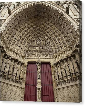 France. Amiens. Notre Dame Cathedral Canvas Print by Everett