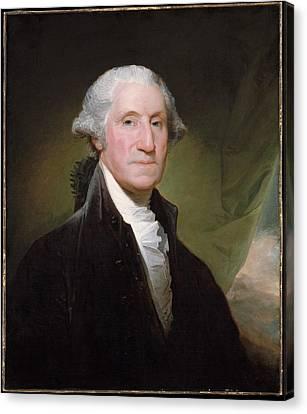 George Washington Canvas Print by Gilbert Stuart