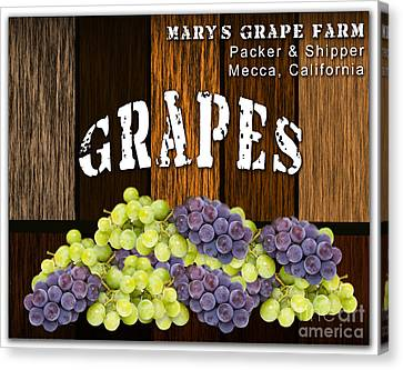 Grape Farm Canvas Print by Marvin Blaine
