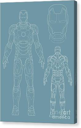 Iron Man Canvas Print by Unknow