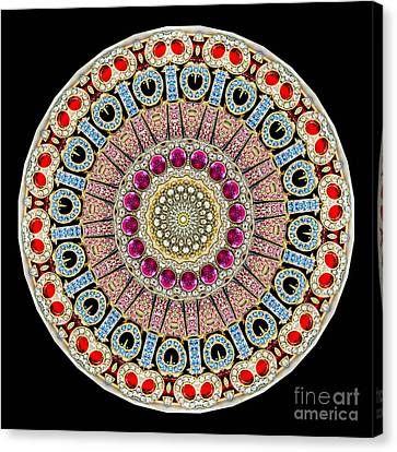 Kaleidoscope Colorful Jeweled Rhinestones Canvas Print by Amy Cicconi