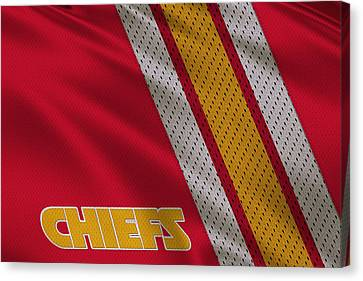 Kansas City Chiefs Uniform Canvas Print by Joe Hamilton