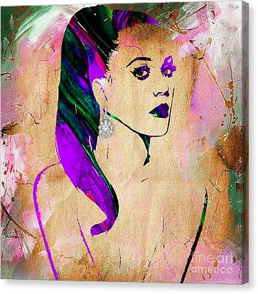 Katy Perry Collection Canvas Print by Marvin Blaine