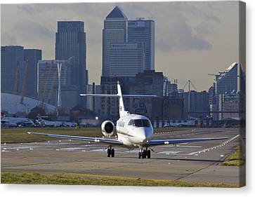 London City Airport Canvas Print by David Pyatt
