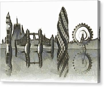 London Skyline Canvas Print by Michal Boubin