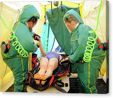 Major Emergency Decontamination Training Canvas Print by Public Health England