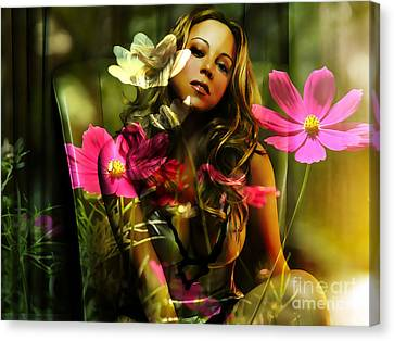 Mariah Carey Canvas Print by Marvin Blaine