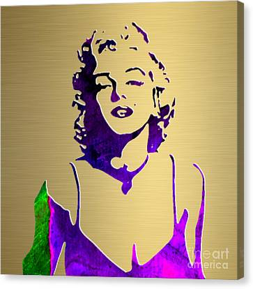 Marilyn Monroe Gold Series Canvas Print by Marvin Blaine