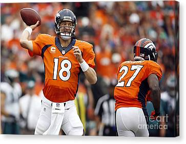 Peyton Manning  Canvas Print by Marvin Blaine