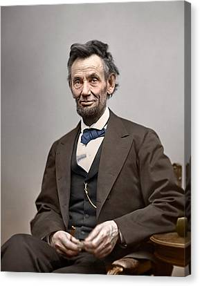 President Abraham Lincoln Canvas Print by Retro Images Archive