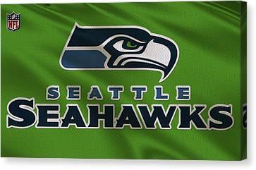 Seattle Seahawks Uniform Canvas Print by Joe Hamilton