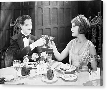Silent Film: Restaurants Canvas Print by Granger
