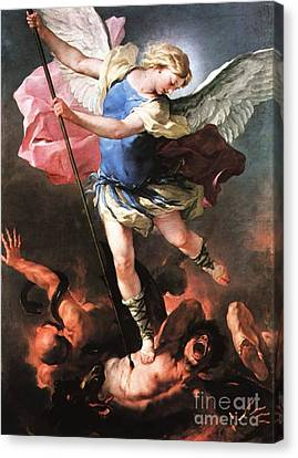 St. Michael Canvas Print by Archangelus Gallery