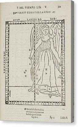 Star Constellations And Heavenly Bodies Canvas Print by British Library