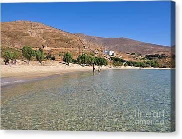 The Famous Psili Ammos Beach Canvas Print by George Atsametakis