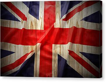Union Jack  Canvas Print by Les Cunliffe