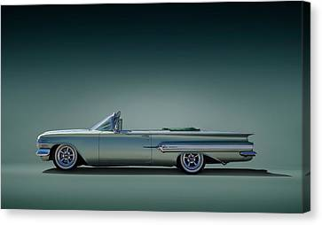 60 Impala Convertible Canvas Print by Douglas Pittman
