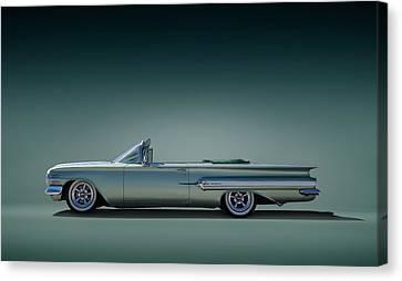 60 Impala Convertible Canvas Print by Douglas Pittman
