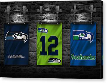 Seattle Seahawks Canvas Print by Joe Hamilton