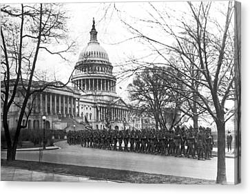 63rd Infantry Ready In Dc Canvas Print by Underwood Archives