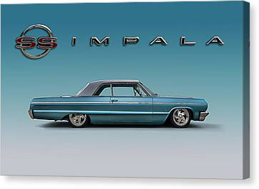'64 Impala Ss Canvas Print by Douglas Pittman