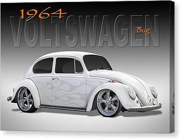 64 Volkswagen Beetle Canvas Print by Mike McGlothlen