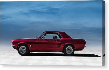 67 Mustang Canvas Print by Douglas Pittman