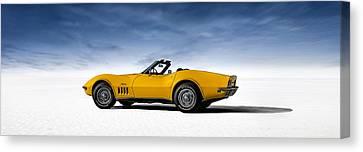 '69 Corvette Sting Ray Canvas Print by Douglas Pittman