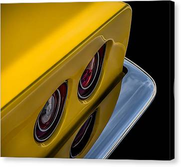 '69 Corvette Tail Lights Canvas Print by Douglas Pittman