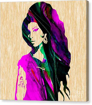 Amy Winehouse Collection Canvas Print by Marvin Blaine