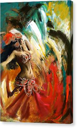 Abstract Belly Dancer 19 Canvas Print by Corporate Art Task Force