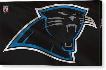 Carolina Panthers Uniform Canvas Print by Joe Hamilton
