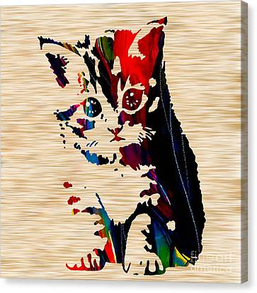 Cat Kitten Canvas Print by Marvin Blaine